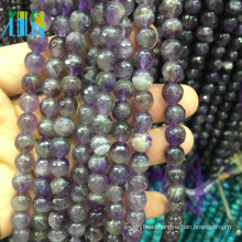 4mm faceted natural Amethyst Crystal Quartz gemstone stone jewelry beads