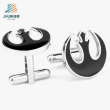Best Sell Die-Casting Wholesale Black Enamel Metal Cufflink for Man