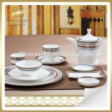 Spanish moroccan western style dinnerware set for Dubai market