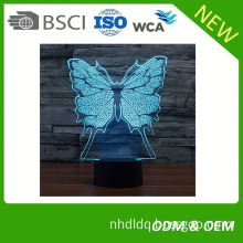 Factory Wholesale acrylic 3d led table lamp with 7 color changing modern table lamp