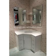 Blanco moderno simplificar espejo esquina baño gabinete vanidad