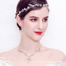 Handmade Designer Elastic Headband Wedding Bride For Women Girl Luxury Hair Accessories Pearl Rhinestone Hairband Feast Party