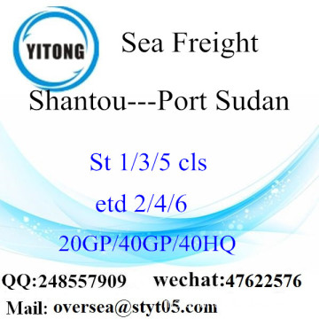 Shantou Port Sea Freight Shipping ke Port Sudan