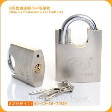 Wesentliche Sicherheit Nickel Plated Schäkel Half Protected S Key Vorhängeschloss