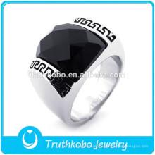 ТКБ-R0070 высокое качество высокая полировка нержавеющей стали черный цвет кубический цирконий камня мужская кольцо его и ее обещание кольцо