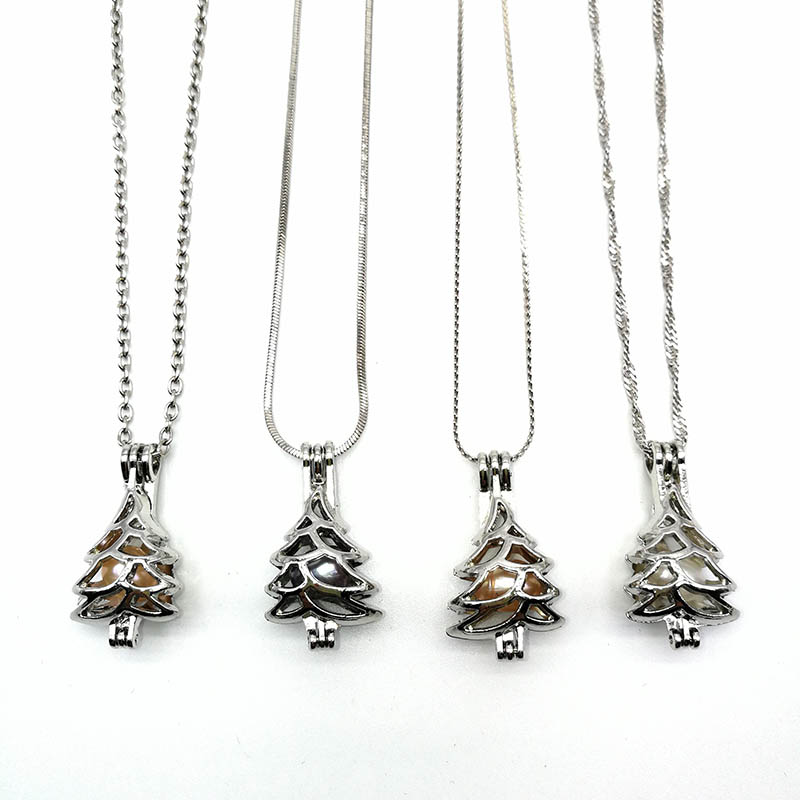 Silver Pendants Charms Necklace