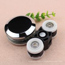 60 kg qualité moyenne coulissante Cintre de porte en verre Rouleau de roue