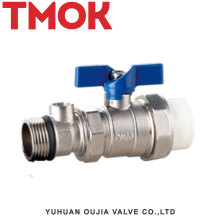 External thread butterfly handle Nickel plating brass ball valve