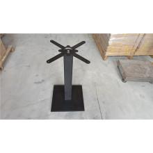 base de table en métal de fonte avec base carrée