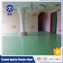 Suelo de vinilo de jardín de infancia de PVC suelos de interior de pvc