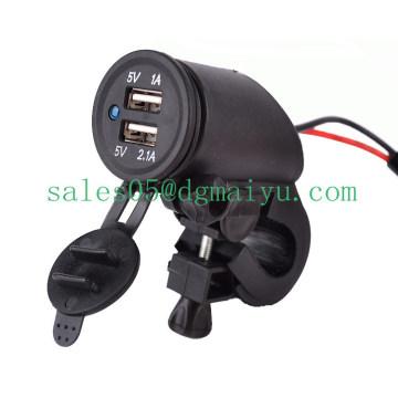 12 В 2.1 a двойной USB мотоцикл Разъем со светодиодным светом