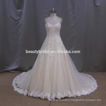 Porte-bagages en élastique en caoutchouc robe de mariage robe de novia 2016