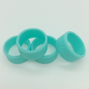 Custom Debossed Silicone Finger Bands