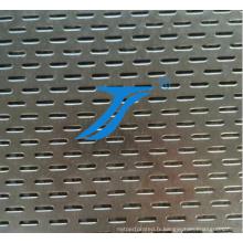 Feuille perforée par acier inoxydable de Ts, grillage perforé galvanisé par métal d'Ellipses de trou