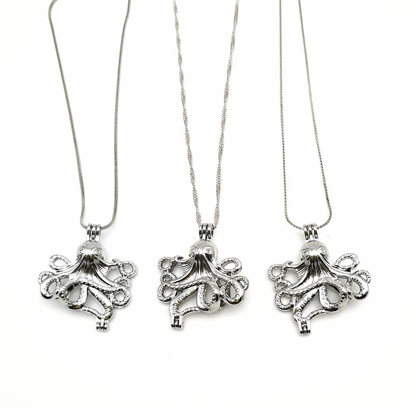 Alloy Octopus Locket Pendant Chains