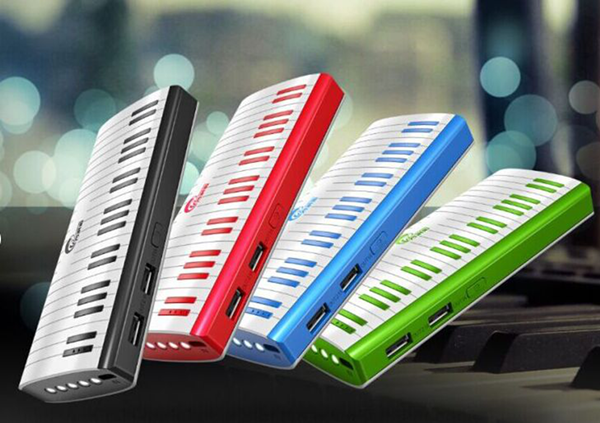 11000 Piano Shape Lithium Battery Power Bank