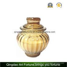 Recipiente de cristal con tapa para la decoración del hogar Proveedor