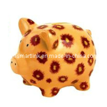 Poly Resin Pig Coin Box, Decorative Pig Money Bank