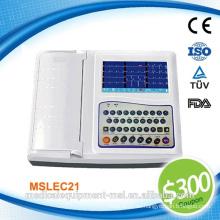 Gutschein verfügbar! Medizinische tragbare 12-Kanal-EKG-Maschine digital - MSLEC21-N