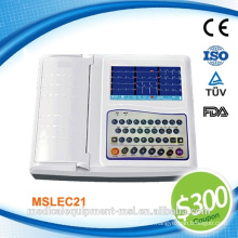 Coupon available! medical portable 12 channel ecg machine digital - MSLEC21-N
