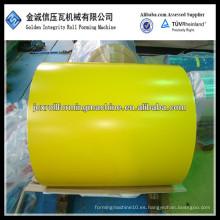Bobina de acero galvanizada prepintada con recubrimiento de color