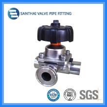 Válvula de diafragma manual de aço inoxidável sanitária para Pharma