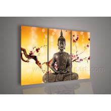 Art moderne Art de peinture de Bouddha sur toile pour décoration intérieure (BU-015)