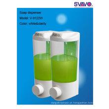 Dispensador de sabão manual de montagem em parede de plástico, dispensador de mão sanitizer