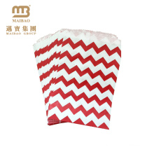 Custom Wave Striped Printed 5X7 Inches Cute Small Gift Kraft Paper Candy Bag For Parties