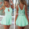 Solid color adult baby romper sexy laced backless latest women sexy nighty dress