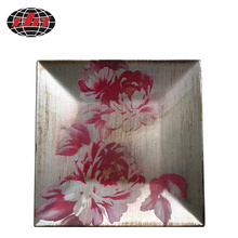Peony Square Antique Plastic Charger Plate
