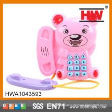 Brinquedo engraçado brinquedos musicais móveis com luz e música brinquedos do telefone móvel