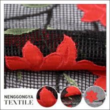 Made in China Designer de malha de tecido de renda de casamento bordado
