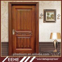 Melhor porta de madeira italiana design duplo sólido madeira escultura porta principal
