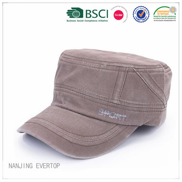 Men Vintage Cotton Military Cap