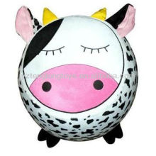 Hot sale foldable Inflatable cow plush animal stools