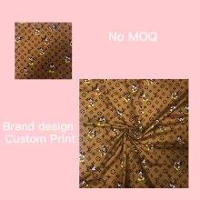 Tecido de pano de bebê de sarja e popeline de algodão estampado personalizado