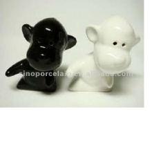 Животная керамическая соль и перечный шейкер для дизайна собак BS120726B