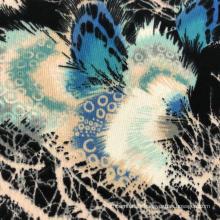 Nouveau design tissu polyester jacquard pull aiguille grossière