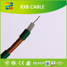 100 m Bobine Câble coaxial Kx8 à conducteur galvanisé 75 Ohm (RoHS CE approuvé)
