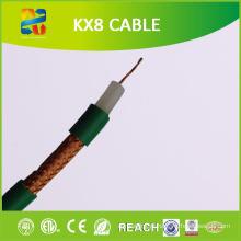 100m Coil 75 Ohm condutor encalhado Kx8 cabo coaxial (RoHS CE aprovado)