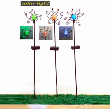 Vertraglicher Linellae Garten Dekoration Solar Light Metal Stake