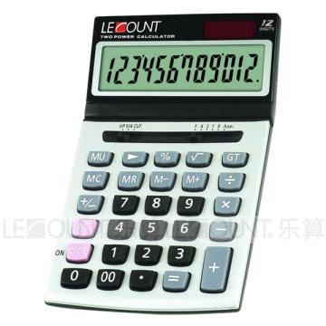 12-значный двойной калькулятор рабочего стола с удобным наклонным экраном (CA1195)