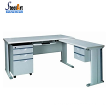 Modern office used l-shaped office desk steel frame computer table computer table design