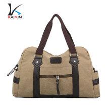bolso del viaje del equipaje del bolso de los deportes del duffle del deporte de las mujeres de la lona de la moda