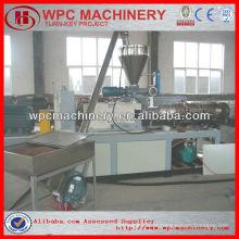 Madeira plástica wpc decking / vedação / painel de parede perfil linha de fabricação wpc perfil máquina
