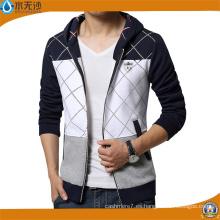 Sudaderas con capucha de la marca de fábrica de los hombres Sudaderas con capucha de la cremallera de la impresión de la moda