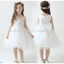2016 Nagelneue Blumen-Mädchen-Kleider Weißes / Elfenbein-wirkliches Party-Festzug-Kommunion-Kleid