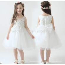 2016 Brand New Flower Girl Robes Blanc / Ivory Real Party Pageant Communion Dress