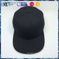 100% acrylique plat / carré brim noir palin snapback cap